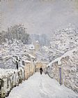Alfred Sisley Snow at Louveciennes Print