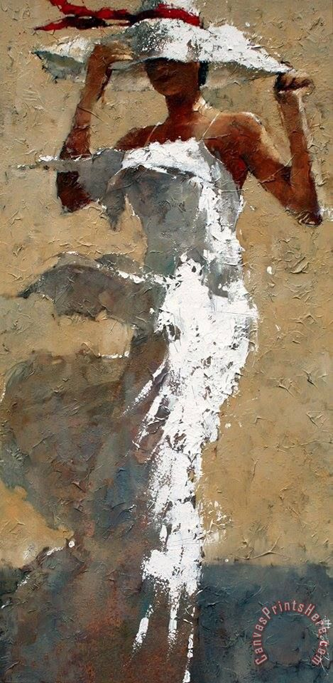 Andre Kohn White Dress Art Painting