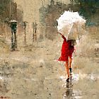 Andre Kohn Red And White Print