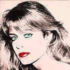Andy Warhol Portrait of Farrah Fawcett Print