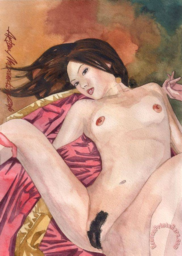 Artem Moldovantsev Asian Nude Art Print