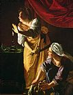 Artemisia Gentileschi Judith and Maidservant with the Head of Holofernes Print