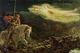 Arthur Hughes Quest for the Holy Grail Print