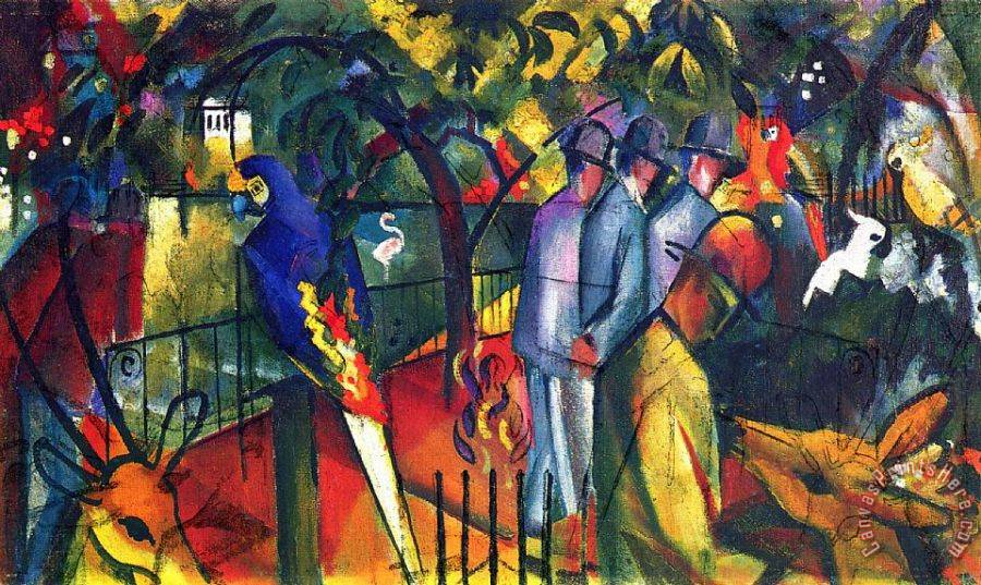 August Macke Zoological Gardens 1 Art Print