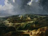 Auguste Forbin View of Jerusalem from the Valley of Jehoshaphat Print