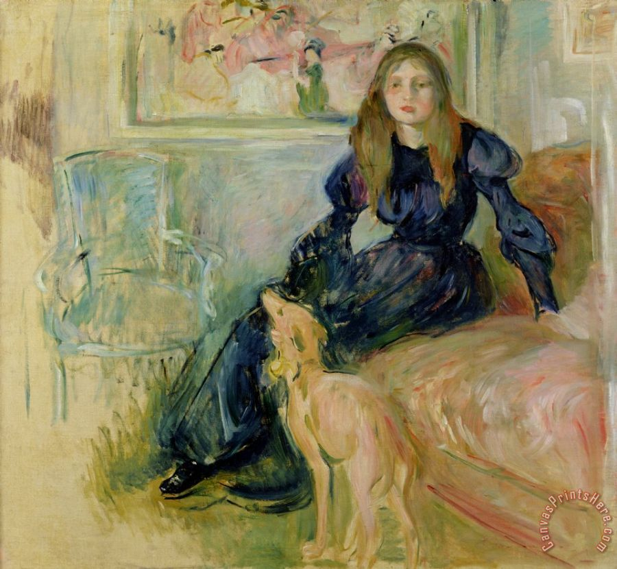 Berthe Morisot Julie Manet and her Greyhound Laerte Art Print