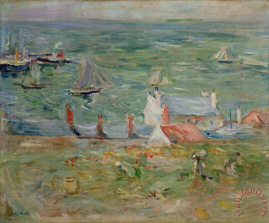 Berthe Morisot The Port of Gorey on Jersey Art Print
