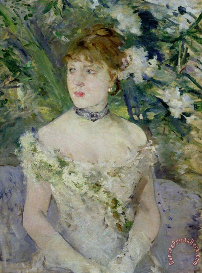 Berthe Morisot Young girl in a ball gown Art Print