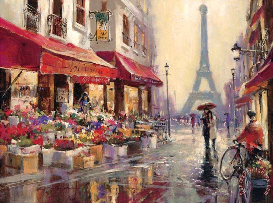 brent heighton April in Paris Art Print