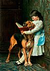 Briton Riviere Naughty Boy or Compulsory Education Print