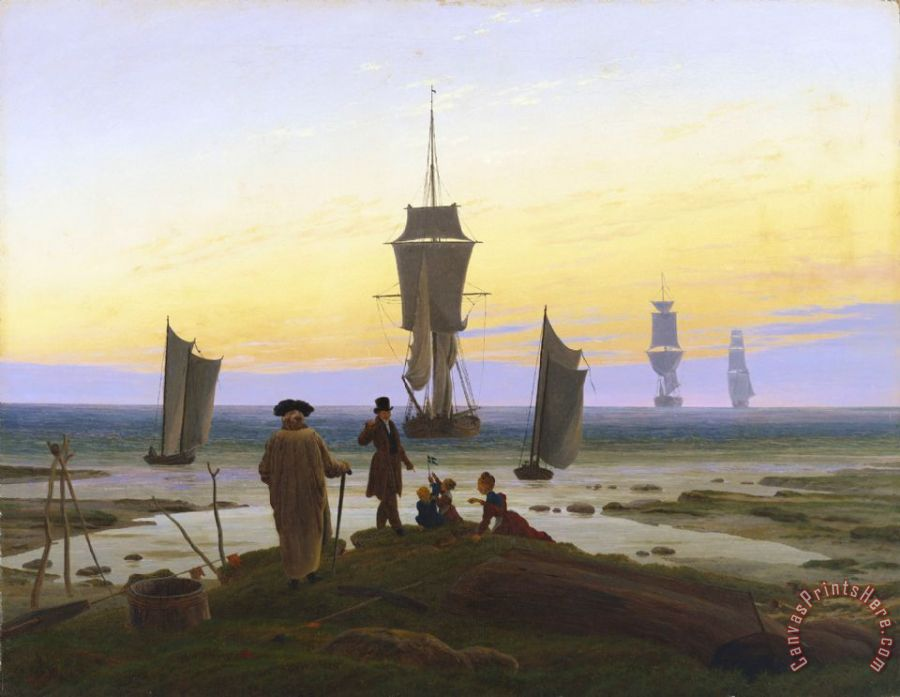 Caspar David Friedrich The Life Stages Art Print