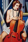 Catherine Abel Woman with Cello Print