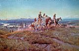 Charles Marion Russell Riders of the Open Range Print