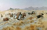 Charles Marion Russell The Attack Print