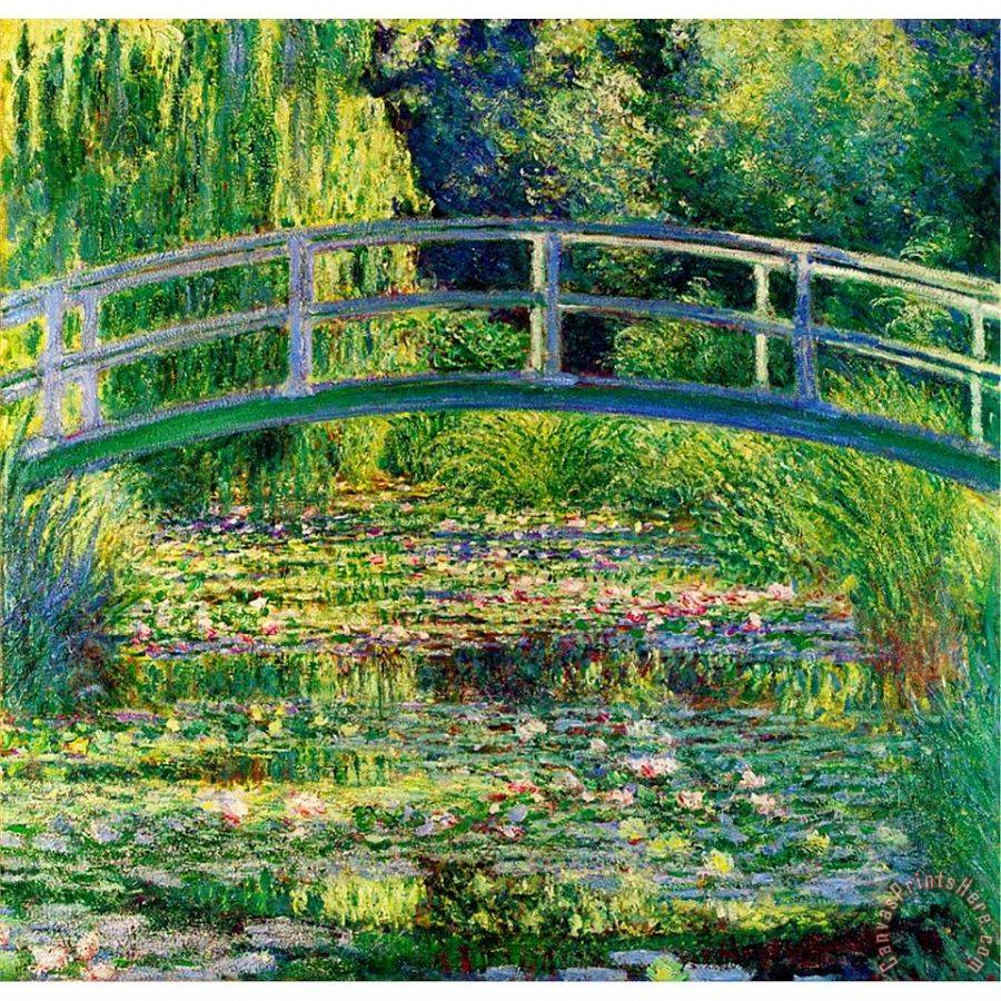 Claude Monet The Waterlily Pond With The Japanese Bridge Art Print