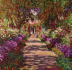 Claude Monet A Pathway in Monets Garden Giverny Print