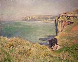 Claude Monet Cliff at Varengeville Print