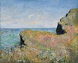 Edge of the Cliff Pourville by Claude Monet