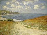 Claude Monet Path in the Wheat at Pourville Print