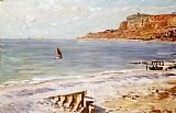 Claude Monet Seascape at Sainte Adresse Print
