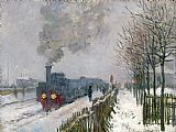 Claude Monet Train in the Snow or The Locomotive Print