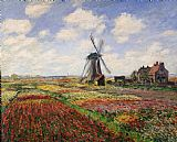 Claude Monet Tulip Fields with the Rijnsburg Windmill Print
