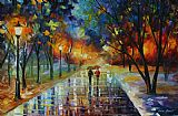 Leonid Afremov Winter Park Print