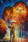 Leonid Afremov Kiss Under The Rain Print