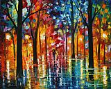 Leonid Afremov Rain Of Fire Print