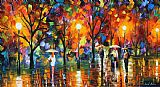 Leonid Afremov The Song Of Rain Print