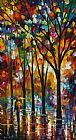 Leonid Afremov The Spectrum Of The Rain Print
