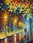 Leonid Afremov The Warmth Of Friends Print