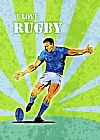 Rugby Player Kicking The Ball Print