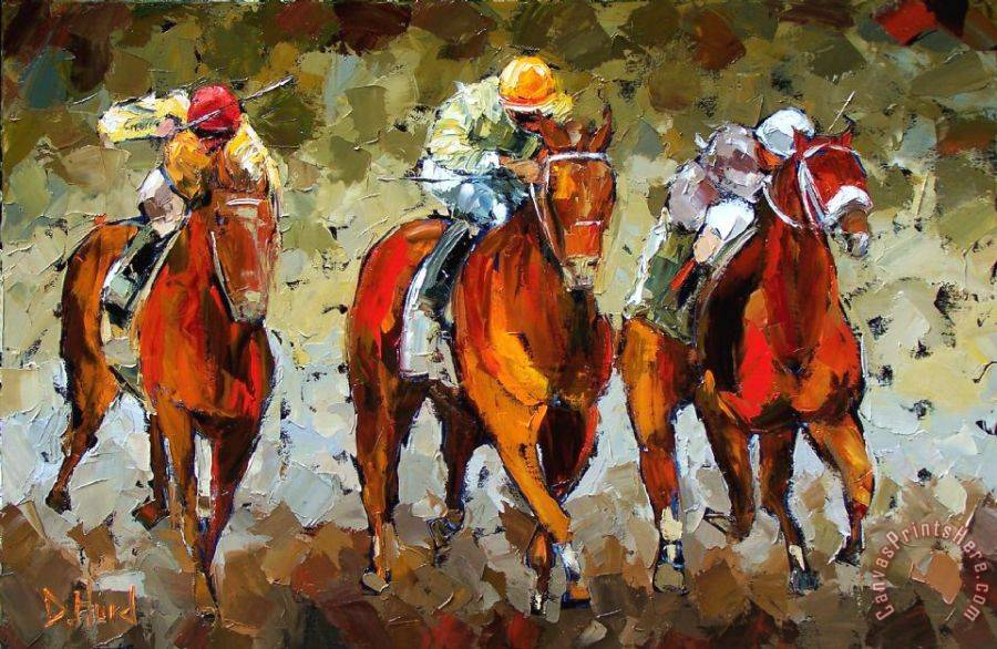Debra Hurd Close Race Art Print