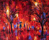 Debra Hurd Deep Red Print