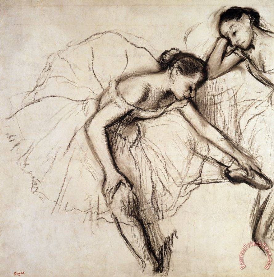 Edgar Degas Two Dancers Resting Art Print