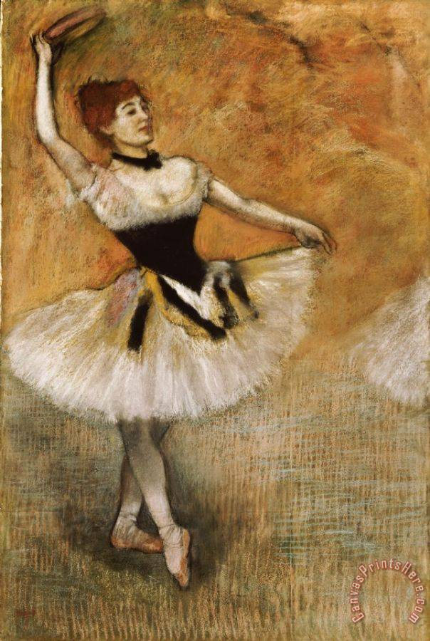 Edgar Degas Dancer with Tambourine Art Print