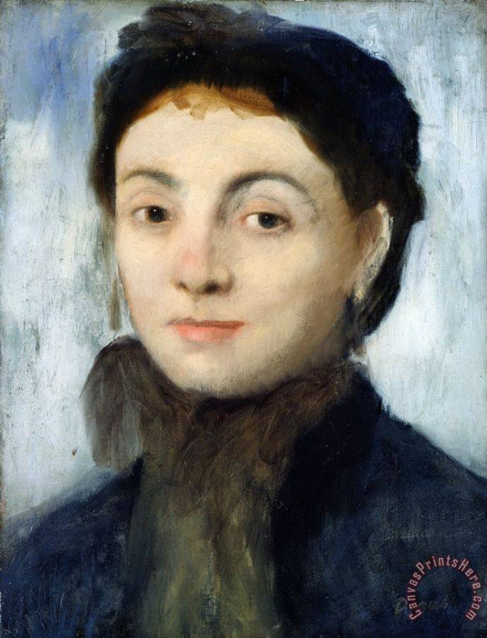 Edgar Degas Portrait of Josephine Gaujelin Art Print