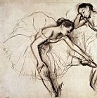 Edgar Degas Two Dancers Resting Print