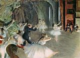 The Rehearsal of the Ballet on Stage by Edgar Degas