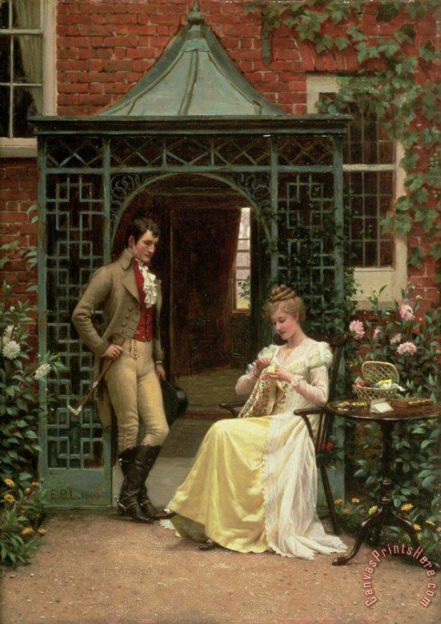 Edmund Blair Leighton On the Threshold Art Print