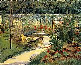 Edouard Manet The Garden of Manet Print