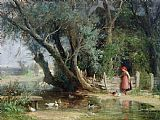 Eduard Heinel The Duck Pond Print