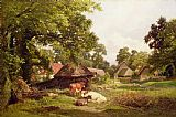 Edward Henry Holder A Cottage Home in Surrey Print