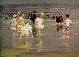 Edward Henry Potthast Children on the Beach Print