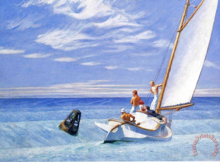 Edward Hopper Ground Swell Art Print