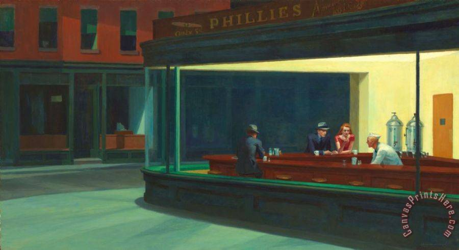Edward Hopper Nighthawks 1942 Art Print