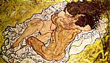 Egon Schiele The Embrace Print