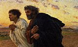 Eugene Burnand The Disciples Peter and John Running to the Sepulchre on the Morning of the Resurrection Print