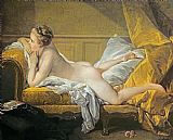 Francois Boucher Reclining Nude Print